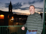 dad on my apartment balcony