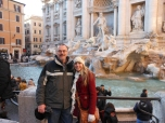 dad and me at the trevi fountain
