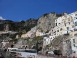 along the amalfi coast