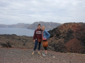 on top of the volcano with liv