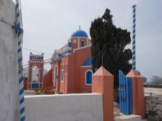 the cutest pink & blue church