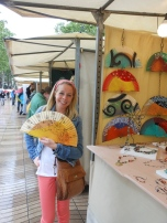 loved the hand painted fans