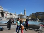 me & nicole in trafalgar square