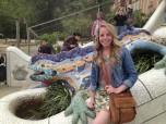 mosaic lizard in park guell