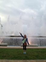 at the magic fountain