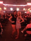 me & linds ready for the concert to begin
