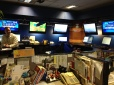 back in the news room